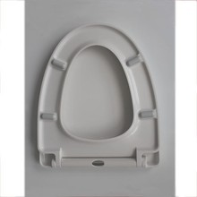 Toilet seat soft close and lift off function v shape