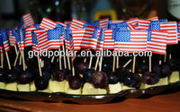 small customized cheese flag toothpicks