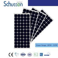 Top choice!MONO-crystalline Solar Panel / Solar Module 185W 190W 195W 200W 205W 210W With TUV/IEC Certification