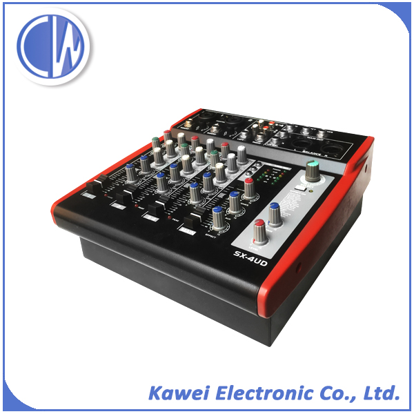 Low price AC 12v input 300 watt audio mixer for sale