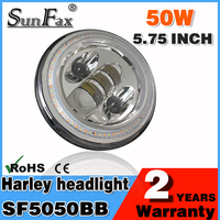 SUNFAX Motorcycle Parts Silver Harley 5.75'' 50w Led Headlight, Jeep Wrangler C REE fog light With Angle Eye