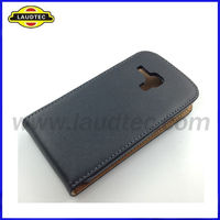 Genuine Leather Case for Samsung Galaxy S Duos S7562,Premium Slim Leather Flip Cover,High Quality,Laudtec