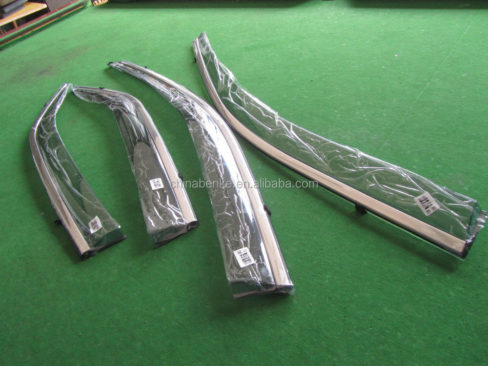 For VOLKSWAGEN VW NEW TOUAREG 2011 Car Injection Window Deflectors Vent Visor, High quality with stainless steel.