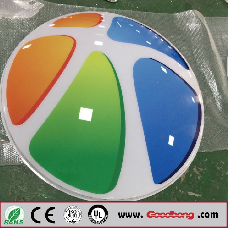 Wholesale price front door signs 3D acrylic UV printed color on the surface LED light box doe for day and night