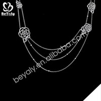 fashion jewelry necklace 2015 wholesale silver moon shape pendant