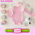 Baby Girls Cotton White Lace Flutter Long Sleeve Romper Princess Pink Toddler Romper