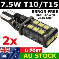 2x 7.5W 2835 LED T10 T15 Parker Wedge W5W 921 Light Bulb CANBUS Error Free 800lm Car Back Light