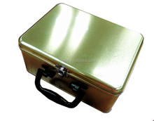 Lunch tin box with handle and lock