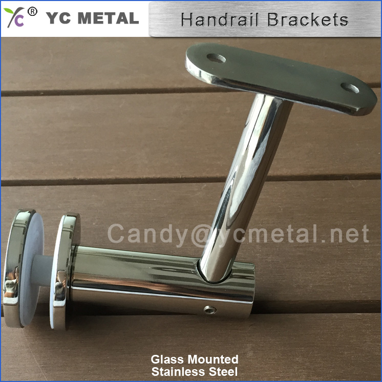 Australia Popular Wholesale Price Stainless Steel Glass Mounted Stair Handrail Brackets