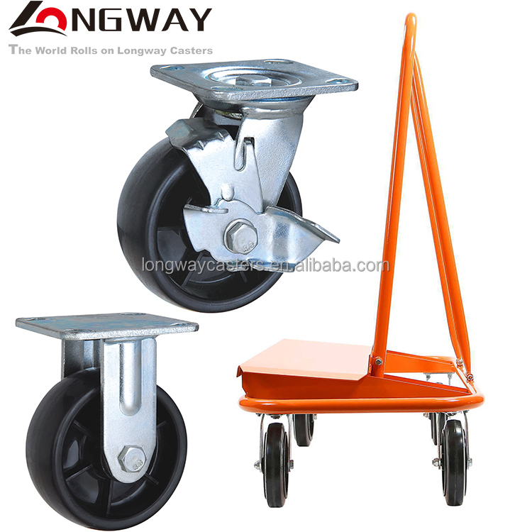 Wholesale price 4-8 inch heavy duty high temperature fixed PP cast removable caster wheels