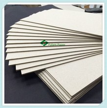 Top quality cardboard sheets recycled grey paper straw board