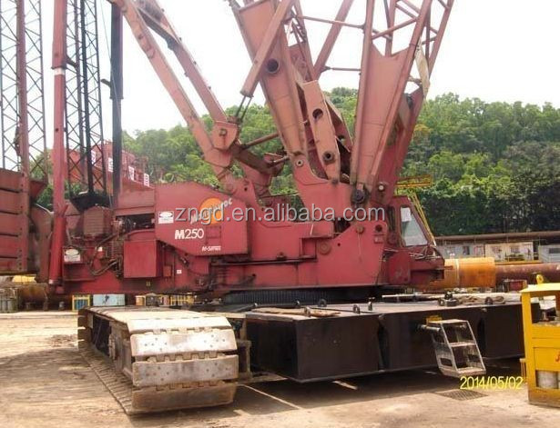 used good condition crawler crane manitowoc 250 ton