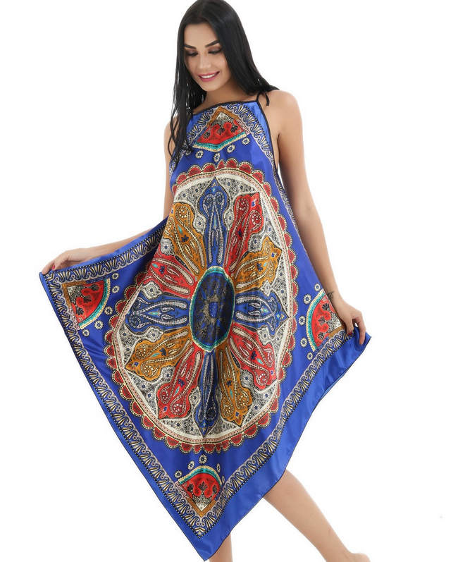 New Blue Floral Printed Sleepdress Sexy Silk Sleepwear Nightgown Women Long Style Home Clothing Bride Robe Bride Robe