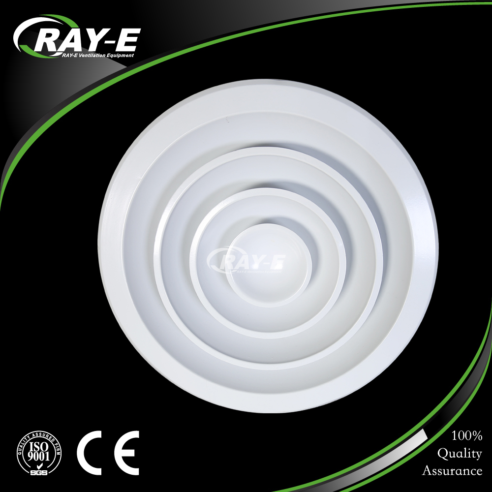 factory price direct selling aluminum ceiling round air diffuser with air damper