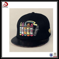 2015 high quality custom fancy kid cap print 6 panel baby hats baseball snapback cap