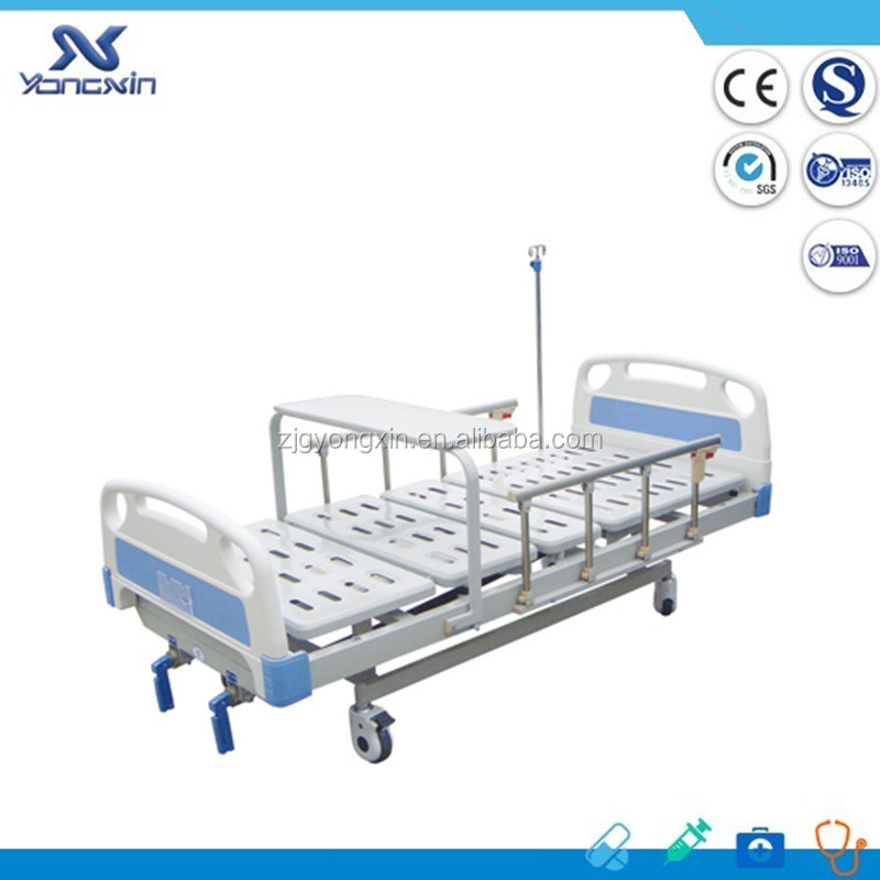 Two Crank Manual Hospital Beds with aluminum railings