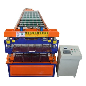 pass ce and iso corrugation double deck sheet roof tile hot sale 840 color steel roll forming making machine