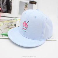 Pure color concise flat hat/candy cake patterm fashion hip hop baseball cap