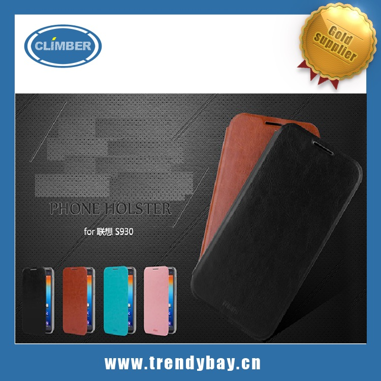 Mofi brand leather phone case for lenovo s930 cover case