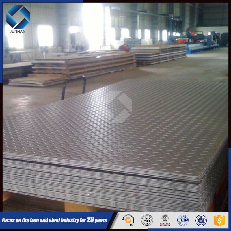 JUNNAN ss400 hot rolled steel chequered plate specification