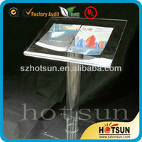 clear acrylic prodium /lectern with rod holder
