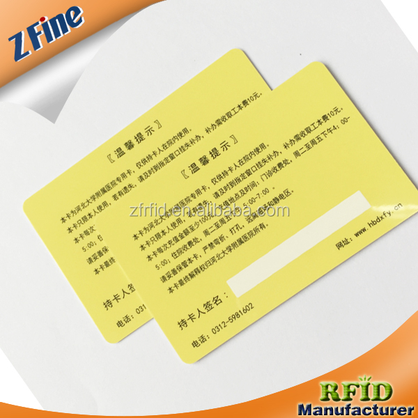 ZFine Top selling plastic medicare pvc card with factory price