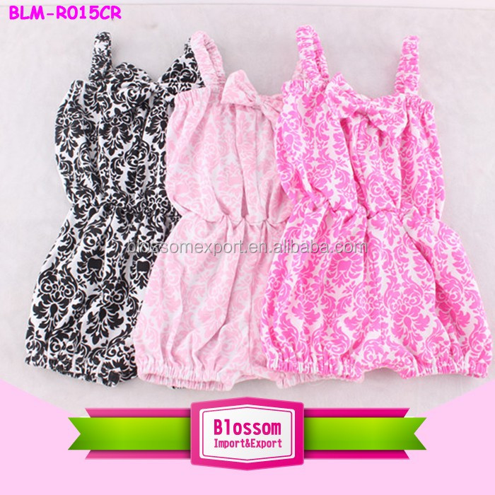 USA apparel new style baby clothes custom print romper kids baby bubble boutique children multicolor kids smocked bubble romper