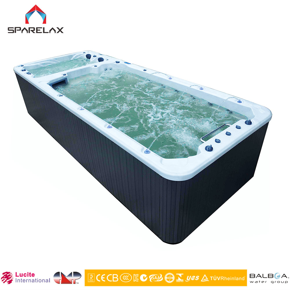 SpaRelax Hot Fiberglass Swimming Pool With Water Massage And Air Bubbles & Outdoor Jakuzzy Swimmi