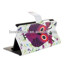 High Quality Lovely Owl Style Flip Wallet Leather Cover Case For Huawei Ascend Y300 U8833 T8833