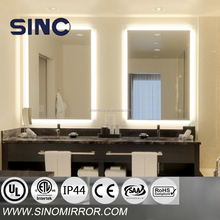 hotel bathroom LED mirror with light in USA 6500K / 3000K