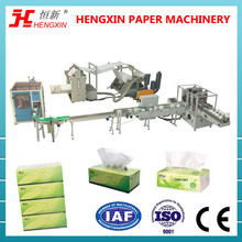 Box packing facial tissue paper folded production line manufacturer