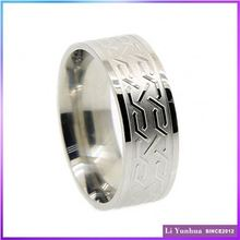 Customized Design Etching Index Finger Rings