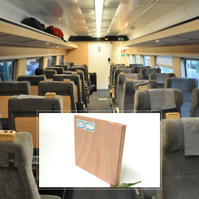 18Mm Chinese Bullet Train Carriage Highest Standards Birch Plywood For Baltic