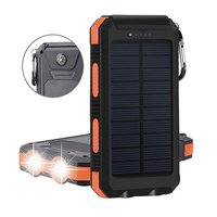 2019 best selling 10000mah solar panel charger for mobile phone waterproof solar phone charger solar power bank with compass