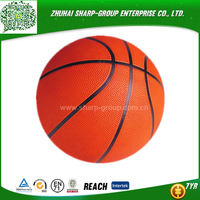 OEM Heat transfer printing wholesale rubber mini basketball 3# for kids