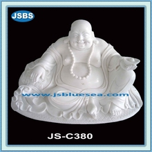 outdoor decoration white stone carving buddha