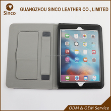good quality wholesale packaging customized PU leather case back cover for ipad