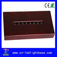 Rectangular wooden 3d laser crystal piano