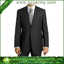 2012 100% tropical wool men formal business office suit with narrow notch lapel