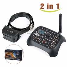 2017 Multi-function Remote Dog Training Collar Invisible Electronic Wireless Dog Fence - 2 In 1 Dog Trainer 3 Mode