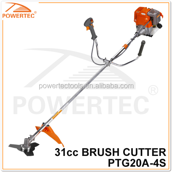 POWERTEC 31CC 700W 4-Stroke Brush Cutter and Grass Trimmer