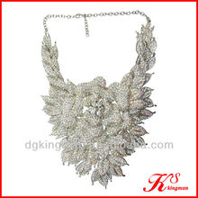Rhinestone Evening Necklace Costume Jewelry