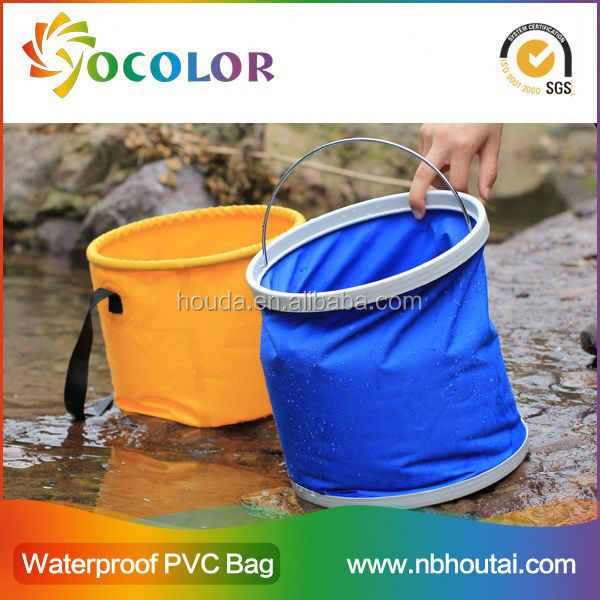 Flexible and foldable pvc tarpaulin Folding Water Bucket