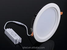 Triac dimmable round 30W 2400LM Aluminum 8 inch led 5630 downlight Global certificat UL/TUV/SAA driver