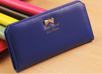 Bz5248 pu leather cheap bow lady wallets 2015 girls wallets purse