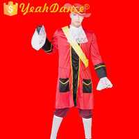 Red Style Pirate Costume Wholesale Pirate Costume Men