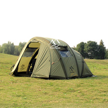 CUCKOO easy set up 100% nylon fabric large fishing tent with inflatable tube poles