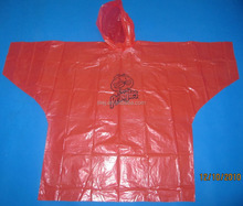 Biodegradable Disposable PE Plastic Raincoats/Poncho for adult