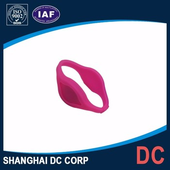 LF/HF/UHF Eco-Friendly Silicone NFC RFID Wristbands