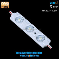 High quality injection 1.5w DC 12v led module with lens IP65